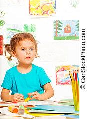 Girl in the class