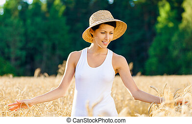 Girl in the field of rye