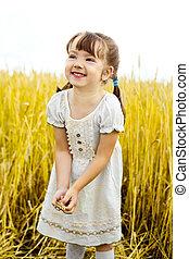 girl in the field