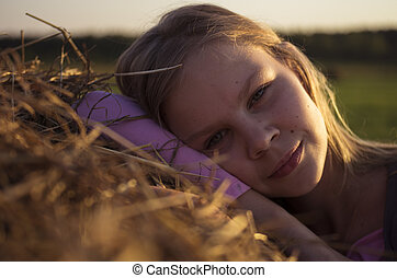 Girl in the field