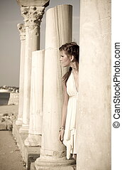 Girl in the Greek style  - Girl in a Greek-style tunic
