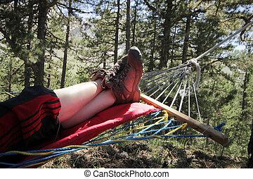 Girl in the hammock