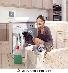 girl in the laundry room asm