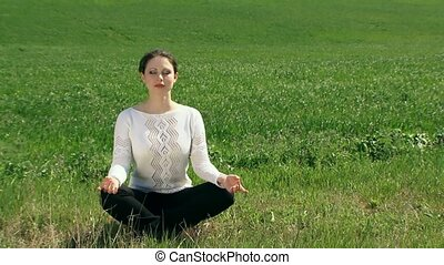 Girl In The Lotus Position