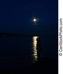 girl in the moon glow
