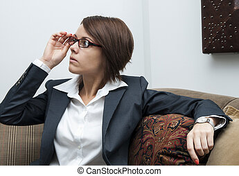 girl in the office