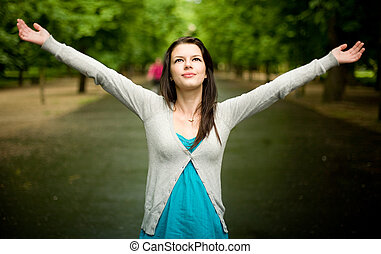 Girl in the park.