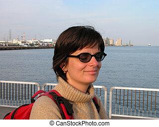 Girl in the port