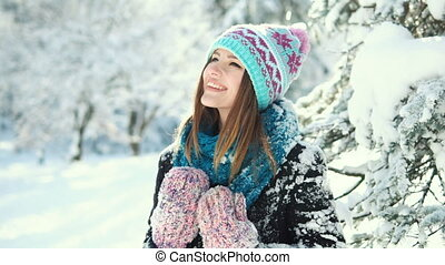Girl in the Snow Park