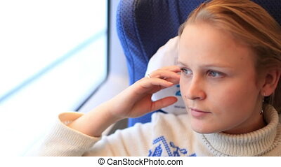 Girl in the train.