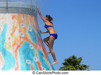 girl in the water park