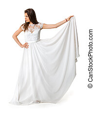 girl in white long dress