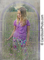 girl in wildflowers