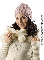 girl in winter dress