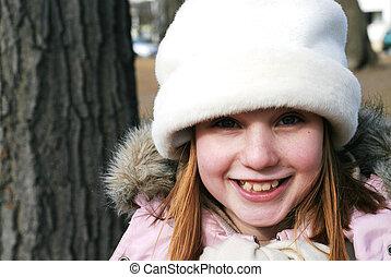 Girl in winter hat