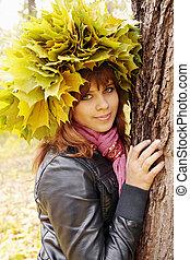 girl in wreaths