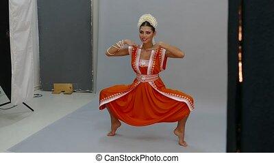 girl, indien, danse