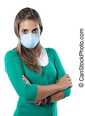 Girl infected with influenza A