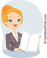 Girl Insurance Agent Presentation