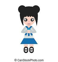girl, japonaise, étudiant, uniforme