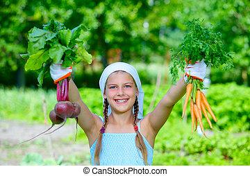 girl, jardinage