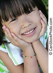 girl, jeune, asiatique