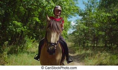 girl, jockey, équitation, nature, cheval, adolescent