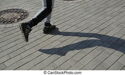 Girl jogging in the morning