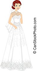 Girl Lacy Bridal Gown