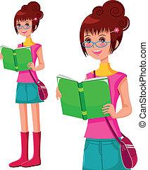 girl lezen