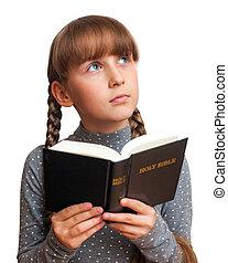 girl lezen, bijbel
