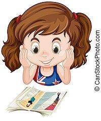 girl lezen, boek, brits