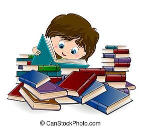 girl lezen, boekjes