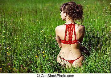 girl, lingerie