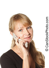 Girl listening mobile