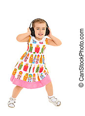 Girl Listens to music