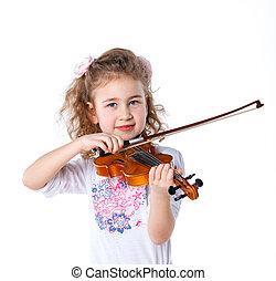 Girl little violinist