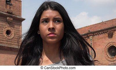 Girl Looking Confused