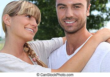girl looking fondly at boyfriend