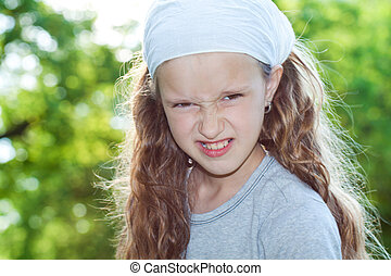 Girl looking treathful