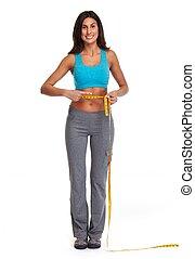 Girl losing weight.