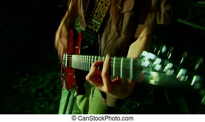 Girl loves to play guitar