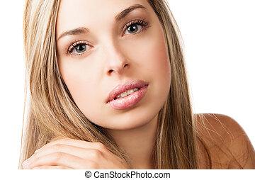 girl, maquillage, beauté naturelle