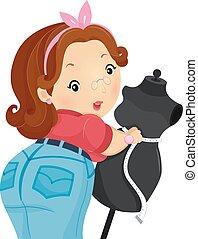 Girl Measure Body Figure