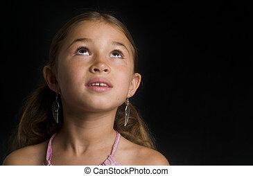 girl, mignon, race mélangée