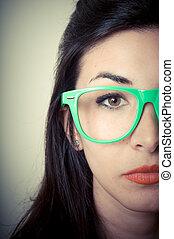 girl, mode, beau, hipster