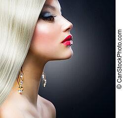 girl, mode, blonds