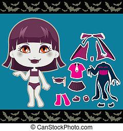 girl, mode, vampire