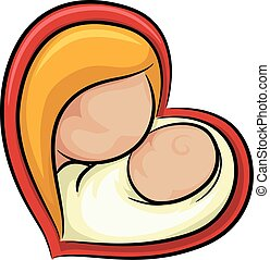 Girl Mom Baby Heart Icon