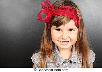 Girl Near Blackboard